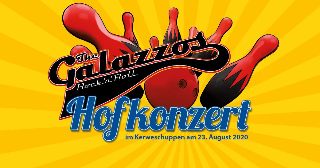 Hofkonzert im Kerweschuppen am 23. August mit The Galazzos